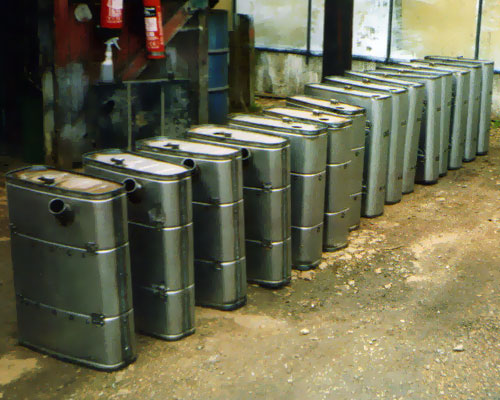 Steel petrol tanks