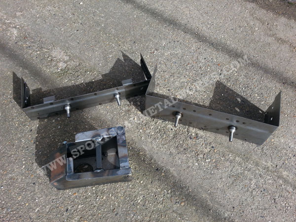 various metal panels and brackets for MGA and T-Type cars